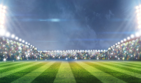 Stadion Leuchten Standard-Bild - 31641328