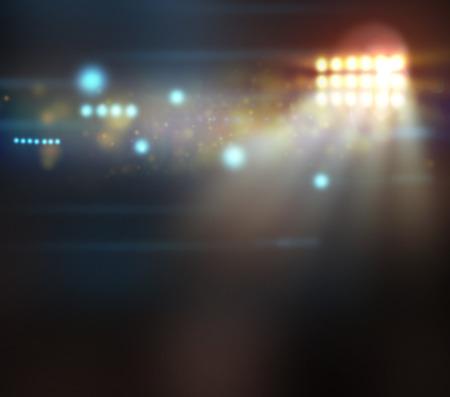 concert verlichting tegen een donkere achtergrond
