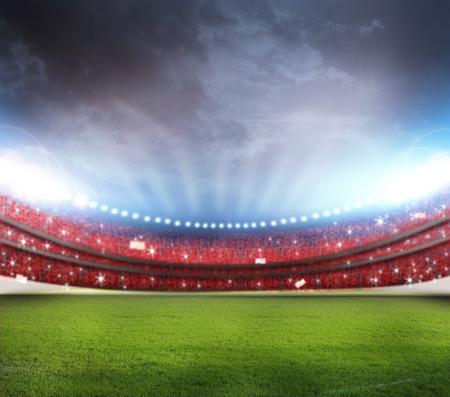 champ vert: Stade Banque d'images