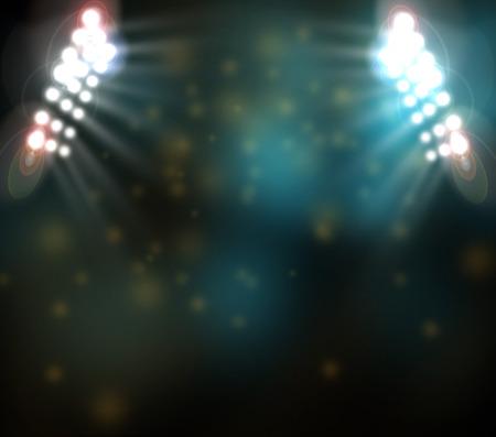 baseball stadium: bright spotlights,