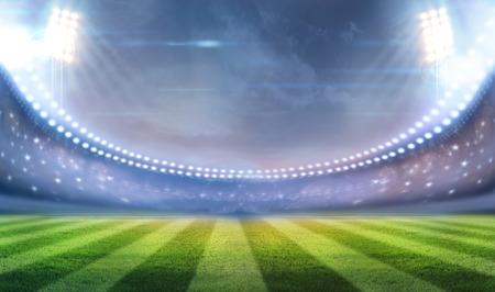 Lichten 's nachts en het stadion Stockfoto - 32817329