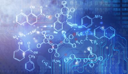 organic chemistry: Investigación de la ciencia como concepto de presentación Foto de archivo