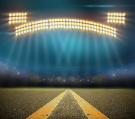 Image of stadium in lights Stock Photo