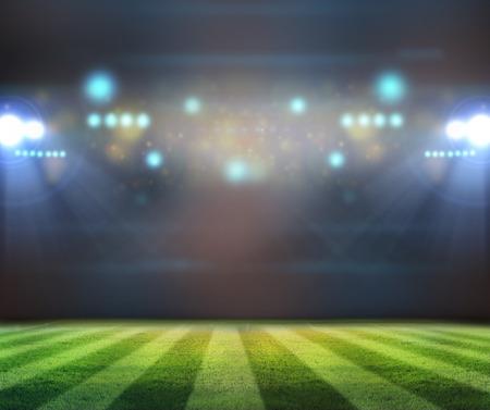 Stadion Lichter in der Nacht und Stadion Standard-Bild - 32820048