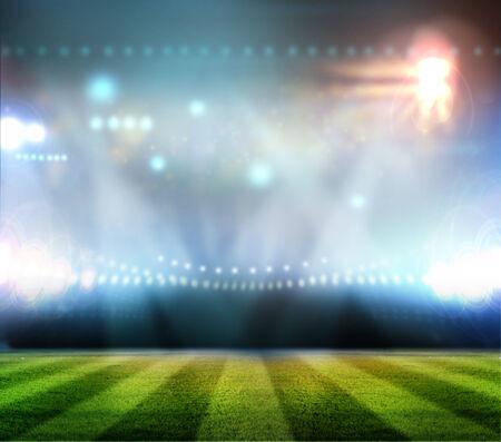 stadium lights at night and stadium photo