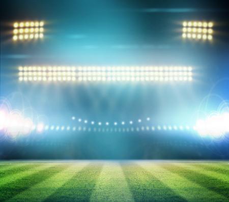 Image of stadium in lights photo