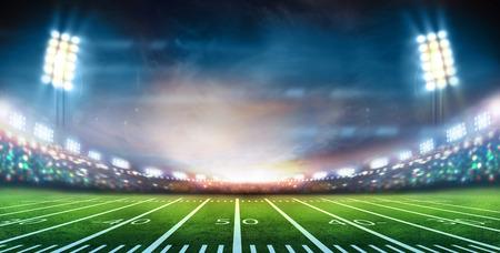 campo di calcio: luci di notte e lo stadio