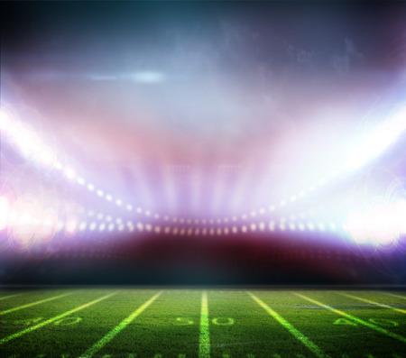 lights at night and stadium photo