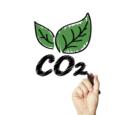 greenhouse gas: co 2 Stock Photo