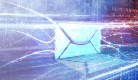 email: An image of some flying envelopes