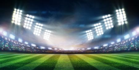 Lichter in der Nacht und Stadion Standard-Bild - 32827927