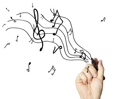 musical notes: Note Stock Photo
