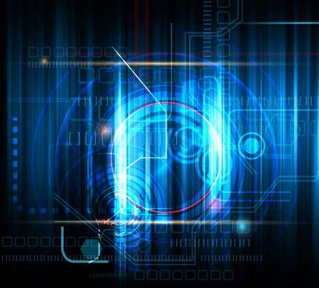 electronic background: Technical futuristic background