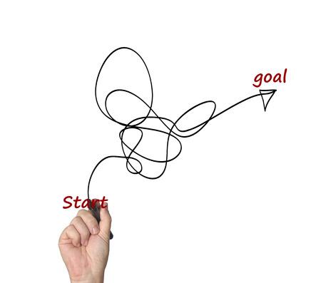 achievable: Hand writing smart goal Stock Photo