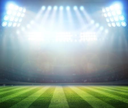 stadium crowd: bright spotlights,