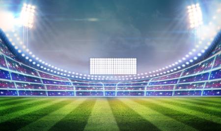 lichten 's nachts en het stadion