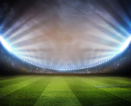 Stadion Lights Stockfoto