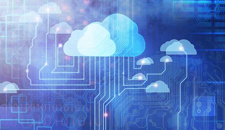 conexiones: La computaci�n en nube Foto de archivo