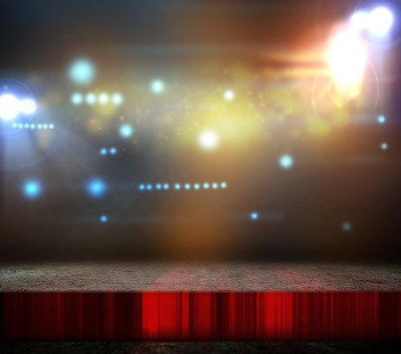 stage: Background in show. Stock Photo