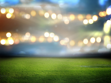 football background: stadium in lights and flashes