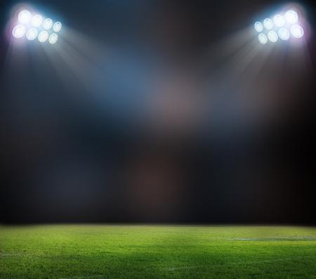 Op het stadion. abstracte voetbal of voetbal achtergronden