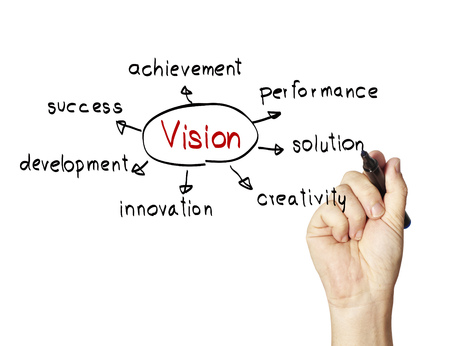 cause: concept of vision Stock Photo