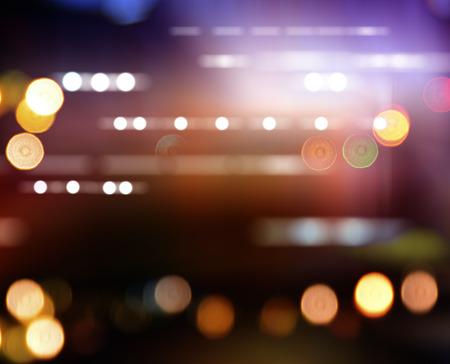 city lights blurred bokeh background Stock Photo