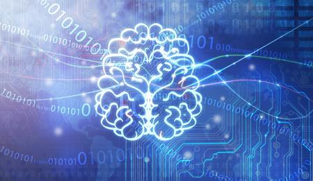 zelektryzować: Pojęcie thinking.background z mózgu. Zdjęcie Seryjne