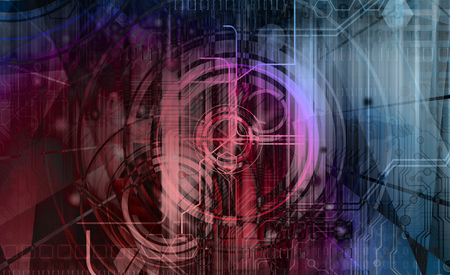 hi tech background: abstract technology background