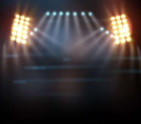 empty stage: concert light show, Stage lights Stock Photo
