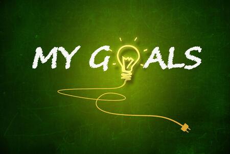 education goals: My Goals Stock Photo