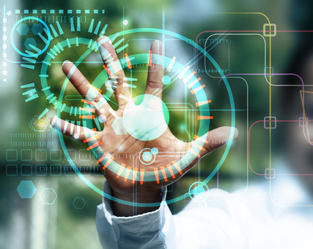 touch screen technologie Stockfoto