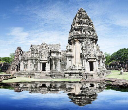 khmer: Prasat Hin Phi mai, Historical Park Phimai Khmer Sanctuary,one of important religious sanctuary,korat,tha iland Stock Photo