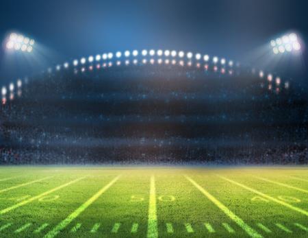 Stadium lights on a sports field at night