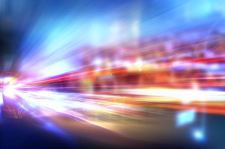 Abstracte nacht versnelling snelheid in beweging Stockfoto