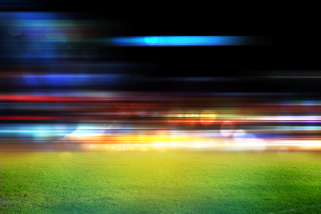 flash of light: stadium in lights and flashes