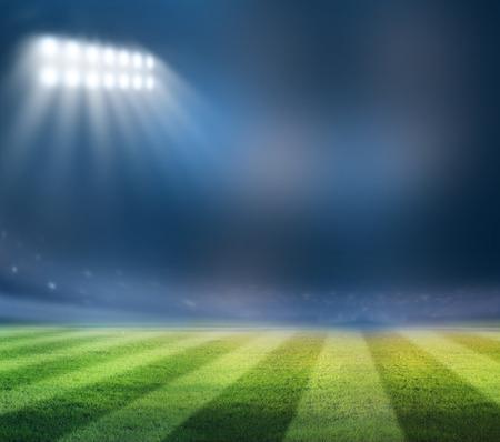 Lichter in der Nacht und Stadion Standard-Bild - 37920188