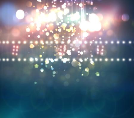 concert lichtshow, Podium verlichting Stockfoto