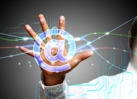 e recruitment: touch screen technology Stock Photo