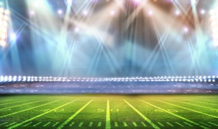 rugby field: bright spotlights