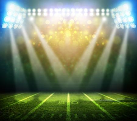 terrain de foot: lumi�re de stade Banque d'images