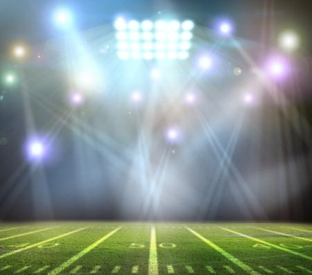 baseball game: light of stadium