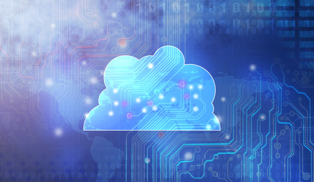 clouds: Cloud computing concept: Stock Photo