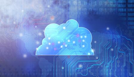 Cloud computing concept: Archivio Fotografico