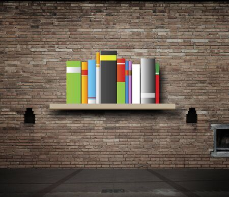 blank books on a shelf and one with idea cover photo