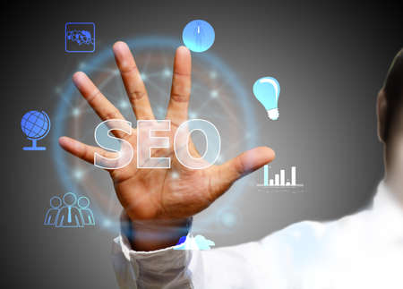 selecting: Search optimization business pointing finnger selecting seo