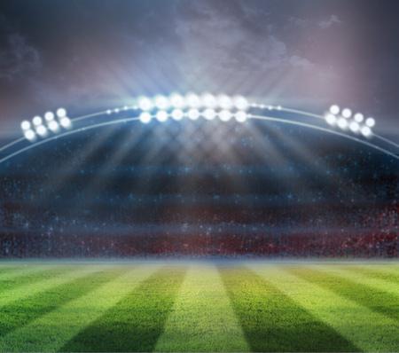 stadium: lights at night and stadium