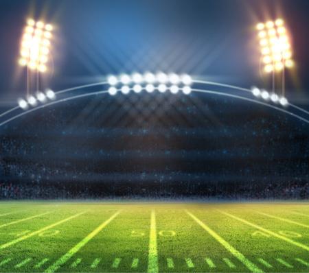 terrain de foot: lumière de stade Banque d'images
