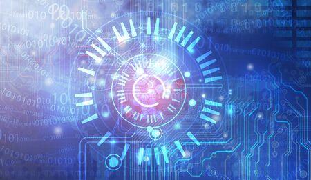 technology: Technology background Stock Photo