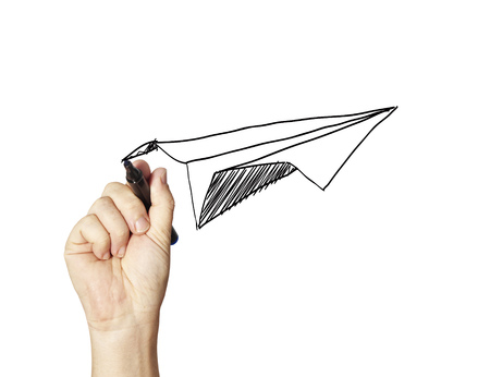 paper airplane: paper aircraft Stock Photo